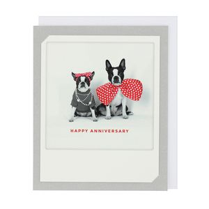 Pickmotion French bulldogs anniversary card