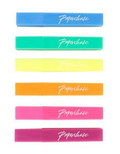 Mini neon highlighters - set of 6