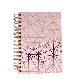 A5 Pink geo lined notebook
