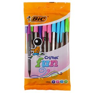BIC Cristal fun ballpoint pens - pack of 10
