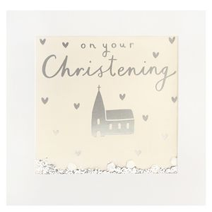 Shakies on your Christening card