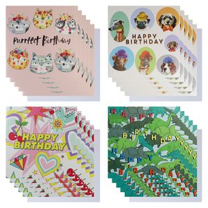 Kids birthday card box - pack of 16