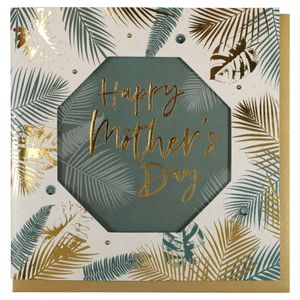 Palm leaves Mother's Day card