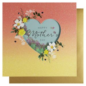 Heart ombre Mother's Day card