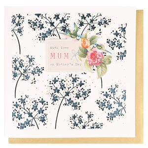 Laser-cut floral Mother's Day card