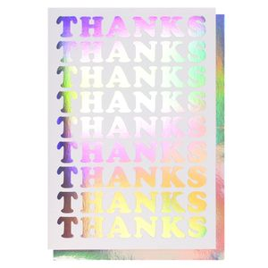 Holographic thank you card