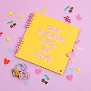 Jam packed full of love scrapbook