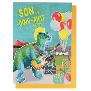 Son dino-mite Birthday card