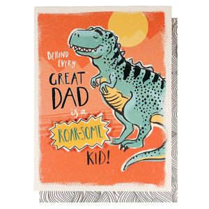 Great dad roarsome kid Father's Day card