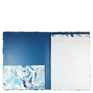 A4 Marble swirl lined padfolio