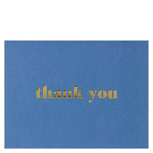 Navy gold thank you card
