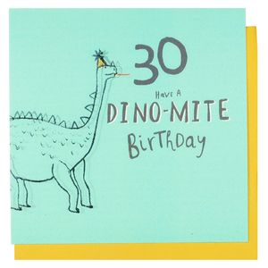 Dino-mite lenticular 30th birthday card