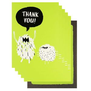 Monster thank you cards - pack of 10