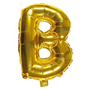 Letter B gold 16 inch balloon