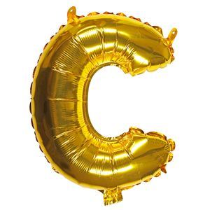 Letter C gold 16 inch balloon