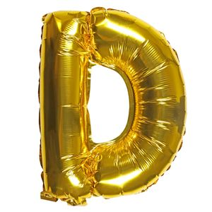 Letter D gold 16 inch balloon