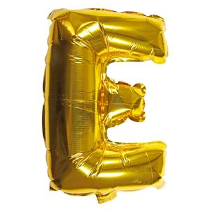 Letter E gold 16 inch balloon