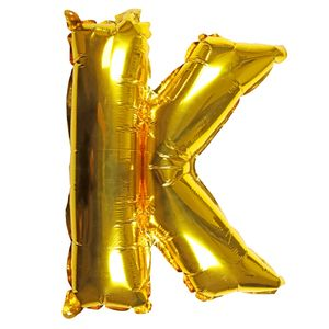 Letter K gold 16 inch balloon