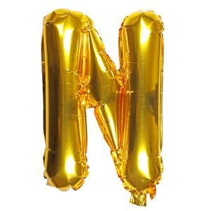 Letter N gold 16 inch balloon