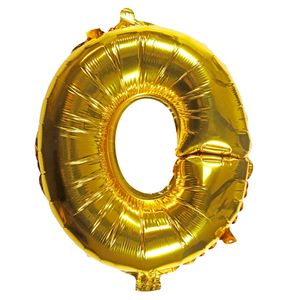 Letter O gold 16 inch balloon