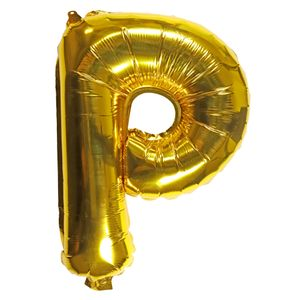 Letter P gold 16 inch balloon