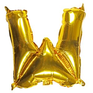 Letter W gold 16 inch balloon