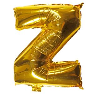 Letter Z golden 16 inch balloon