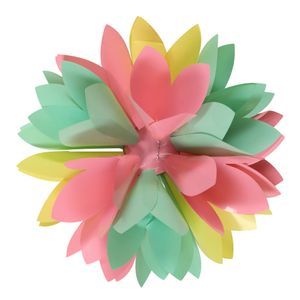 Pastel foil flower self-adhesive bow