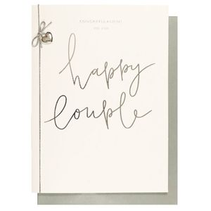 Congratulations to the happy couple wedding card
