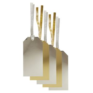 Gold and silver luggage gift tags - set of 10