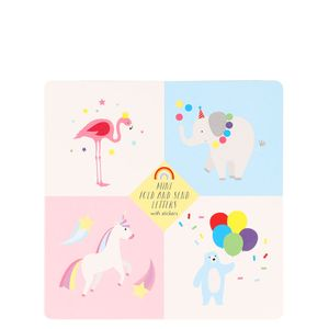 Animal party fold and send writing set