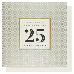 Silver anniversary 25 years together card