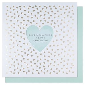 Laser cut hearts engagement card
