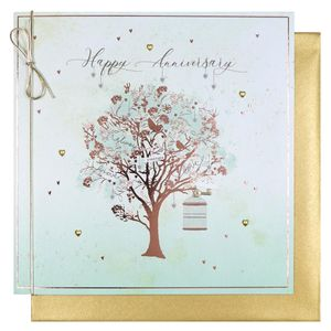 Golden tree anniversary card
