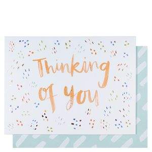 Colourful dashes thinking of you card