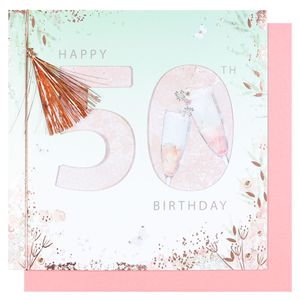 Tassel 50th birthday card
