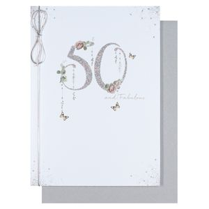 50 and fabulous 50th birthday card