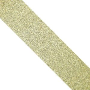 Wide gold glitter gift wrapping tape - 20m