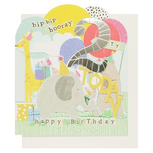 Hopscotch 2nd birthday card