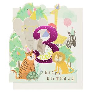 Hopscotch 3rd birthday card