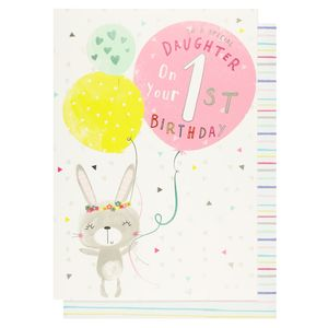 Scribbles special daughter 1st birthday card