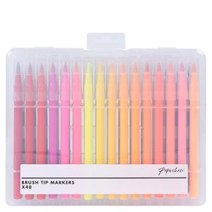 Brush tip felt tip pens - set of 48