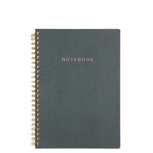 A5 green grain dotted notebook