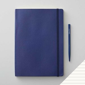 Agenzio soft midnight ruled large notebook