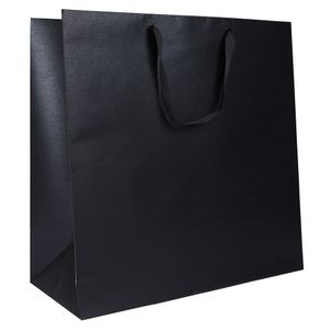 XL black kraft gift bag