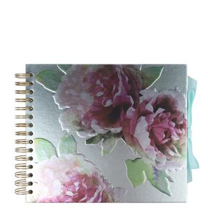 Small metallic floral scrapbook