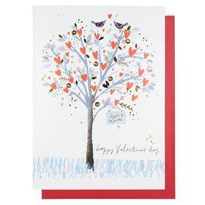 Heart tree Valentine's Day card