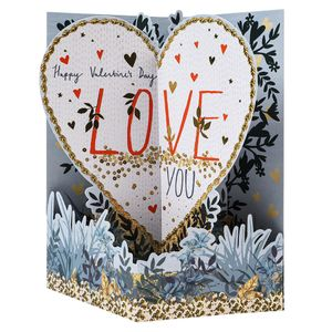 Pop up heart Valentine's card