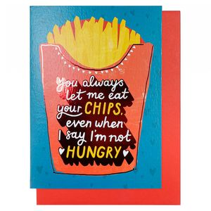 Eat your chips Valentine's Day card
