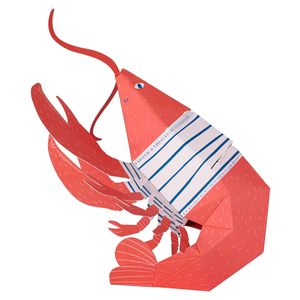 Pop-out lobster Valentine's Day card
